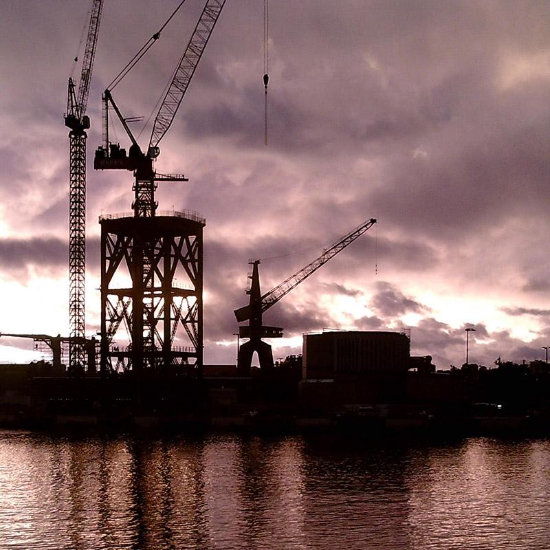 Hammerhead Crane Deconstruction, Garden Island